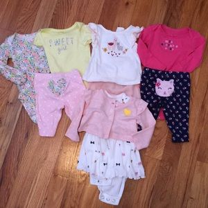 Set of 4 newborn girl outfits